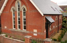 The Chapel completed with new slate roof and handmade joinery